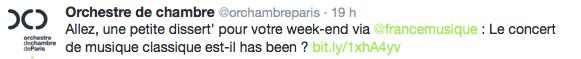 tweet orchestre de chambre de Paris