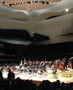 L'orchestre de Toulouse dans la grande salle de la philharmonie